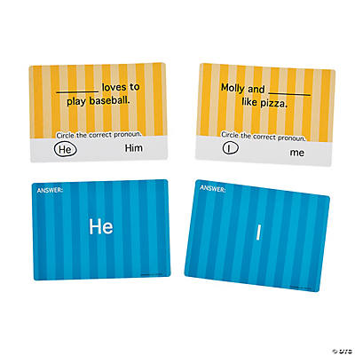 Pronoun Dry Erase Cards