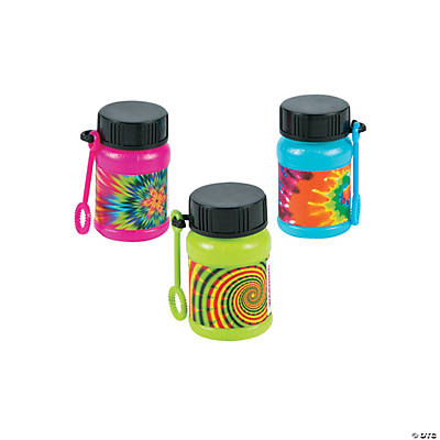 Psychedelic Print Mini Bubble Bottles