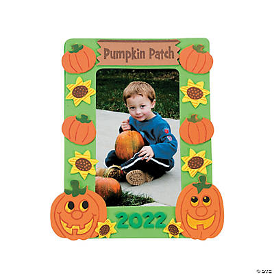 """Pumpkin Patch"" Picture Frame Magnet Craft Kit"