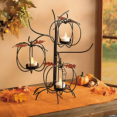Pumpkin Tree Candleholder