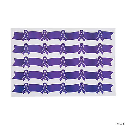 Purple Awareness Ribbon Borders
