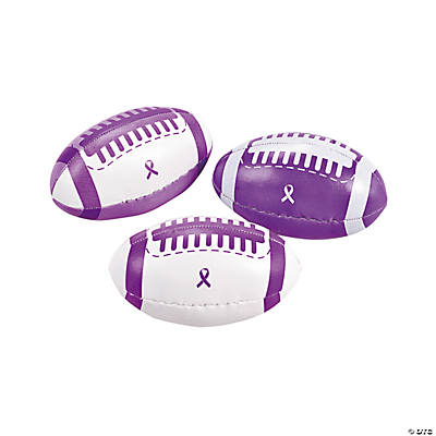 Purple Awareness Ribbon Footballs