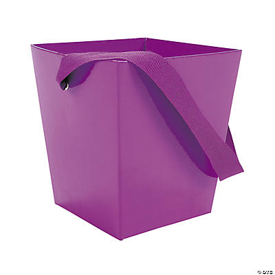 Purple Buckets with Ribbon Handle