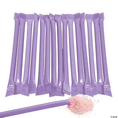Purple Candy-Filled Straws