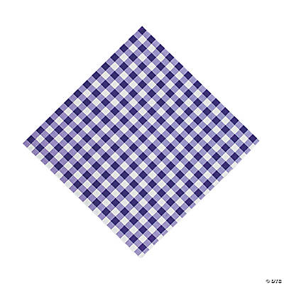 Purple Gingham Luncheon Napkins