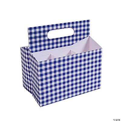 Purple Gingham Tableware Caddy