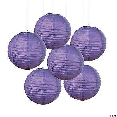 Purple Hanging Paper Lanterns