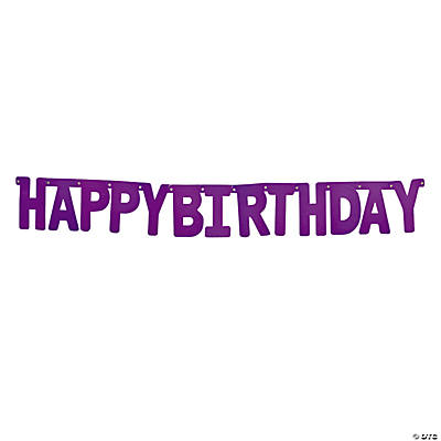 "Purple ""Happy Birthday"" Jointed Banner"