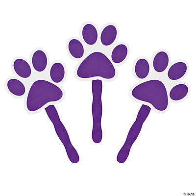 Purple Paw-Shaped Fans