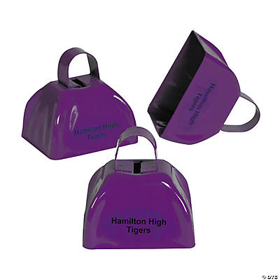 Purple Personalized Cowbells