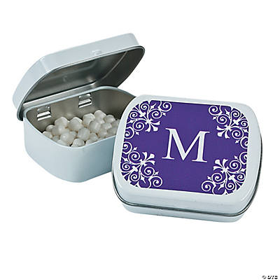 Purple Personalized Monogram Mint Tins