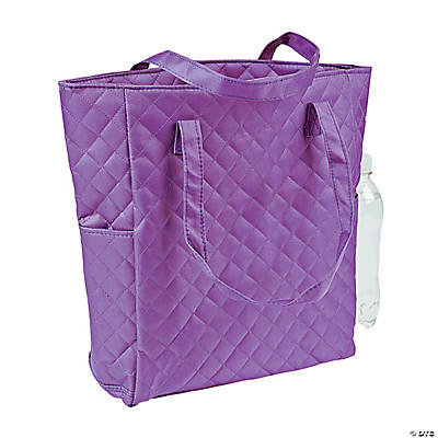 Purple Quilted Tote