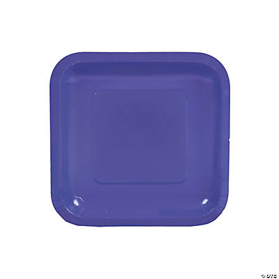 Purple Square Dessert Plates