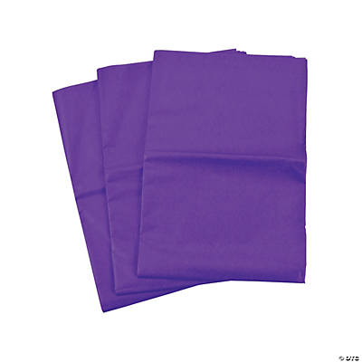 60 Purple Tissue Paper Sheets