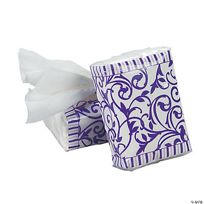 Purple Wedding Facial Tissue Packs
