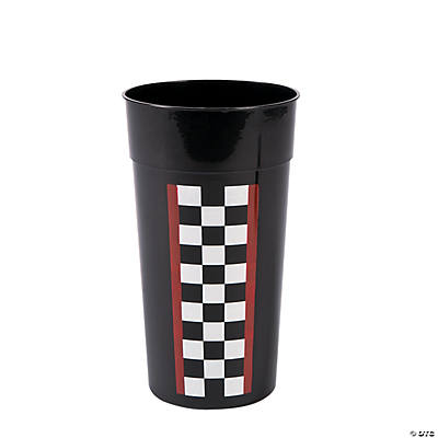 Race Car Checkered Flag Plastic Tumblers