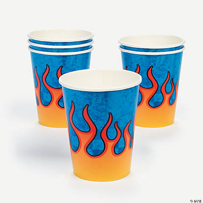 8 Race Car Cups