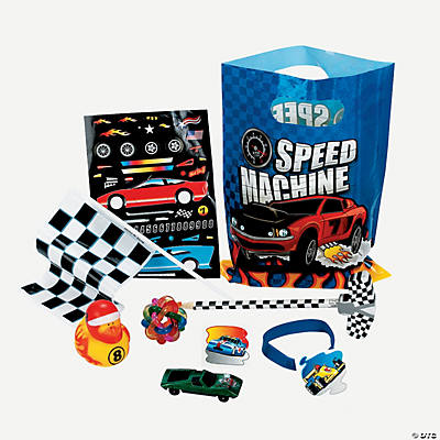 8 Race Car Filled Treat Bags