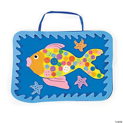 Rainbow Button Fish Wall Hanging Craft Kit