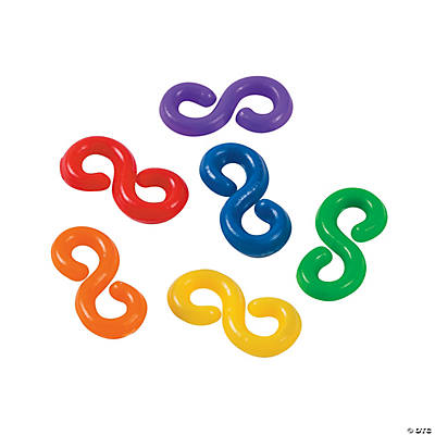"Rainbow Fun Loop ""S"" Clip Connectors"