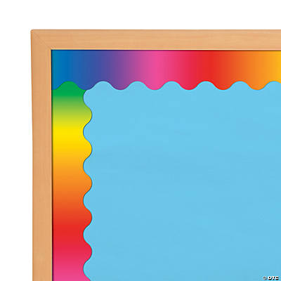Rainbow Scalloped Bulletin Board Borders