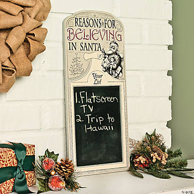 """Reasons For Believing"" Chalkboard"