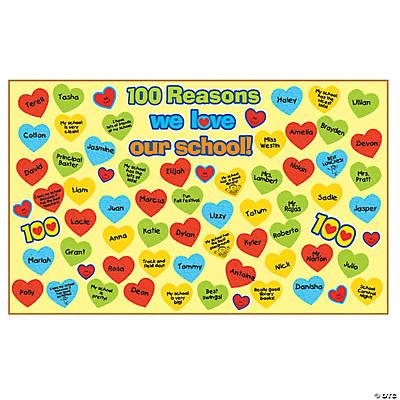 100 reasons why i love school bulletin board set bulletin board