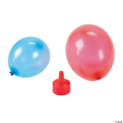 Red blue 2 latex water balloons oriental trading for Water balloon christmas decorations