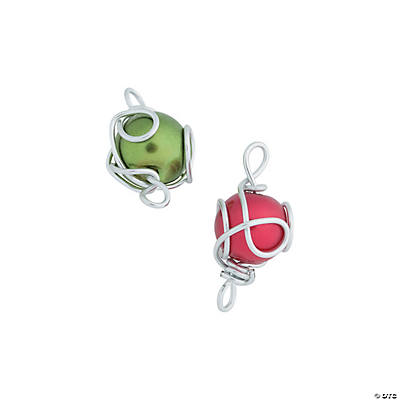 Red & Green Wire Wrap Charms