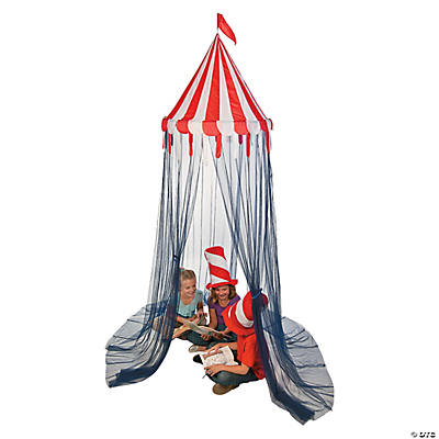 Red u0026 White Striped Canopy Tent  sc 1 st  Oriental Trading : striped canopy tent - memphite.com