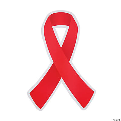 Red Awareness Ribbon Cutouts