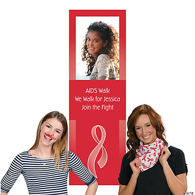 Red Awareness Ribbon Photo Booth