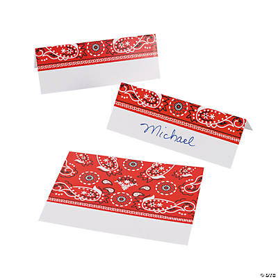Red Bandana Place Cards