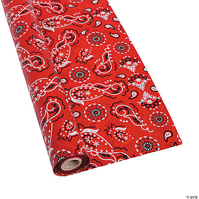 Red Bandana Tablecloth Roll