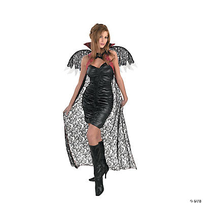 Red/Black Lace Cape With Wings