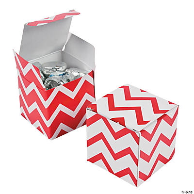 Red Chevron Gift Boxes