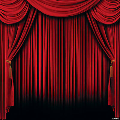 Great Red Curtain Backdrop