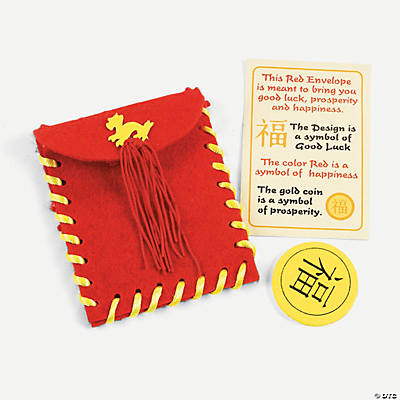 Red Envelope with Coin & Legend Lacing Craft Kit