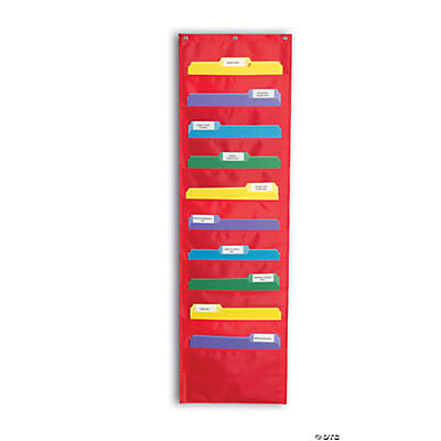 Red File Folder Storage Pocket Chart