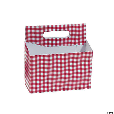 Red Gingham Tableware Caddy