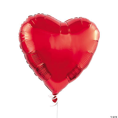 Red Heart Mylar Balloons
