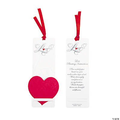 Red Heart Seeded Bookmarks