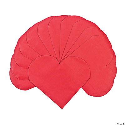 Red Heart-Shaped Napkins