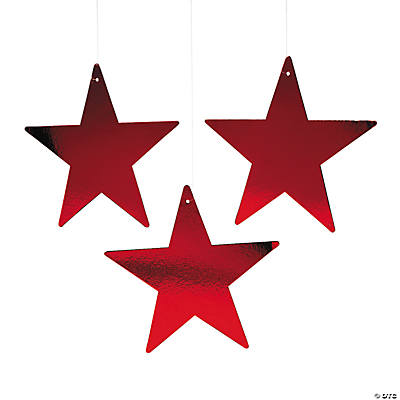 Red Large Twinkling Stars