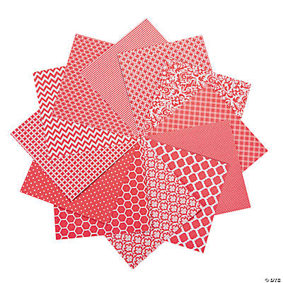 Red Monochromatic Paper Pack