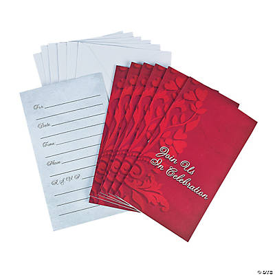 Red on Red Invitations