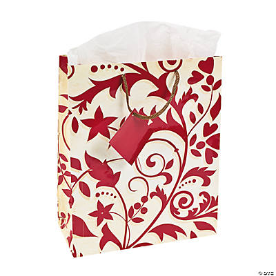 Red on Red Wedding Medium Gift Bags