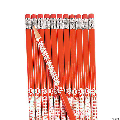 Red Paw Pride Personalized Pencils