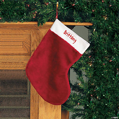 Red Plush Personalized Christmas Stocking