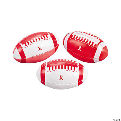 Red Ribbon Awareness Footballs